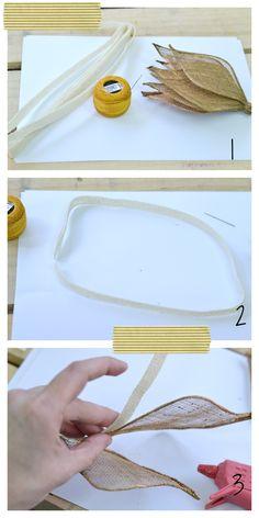 Preparamos la base del tocado con el bies de sinamay