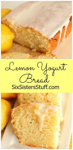 Lemon Yogurt Bread on Sixsistersstuff.com