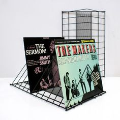 50s Record Racks Pair now featured on Fab.