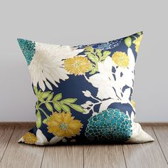 Designer Throw Pillow Cover - Richloom St Moritz Caribbean. Fabric is a medium weight, 100% cotton. Colors include teal, gold, kiwi, peacock blue, ivory and navy with gold metallic. #DesignerPillows #SofaPillows #LivingroomDecor #HomeDecor Couch Pillow Covers, Outdoor Pillow Covers, Pillow Cover Design, Sofa Pillows, Handmade Pillow Covers, Decorative Pillow Covers, Designer Pillow, Designer Throw Pillows, Living Room Pillows