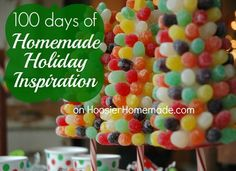 100 days of Homemade Holiday Inspiration: Baking, Crafts, DIY Projects, Homemade Gifts and MORE! on HoosierHomemade.com #Christmas #Holidays