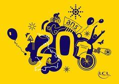 20 ans du maillot jaune LCL by Anne-Carole Legrand, via Behance