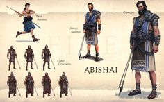 Abishai  Guardians of David hermano de Joab y Asahel , uno de los tres valientes