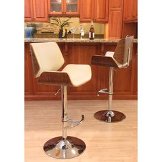 Smooth supportive contours make this one of the most versatile barstools ever. The slightly raised edges of the seat and back maximize comfort while also adding sleek style.