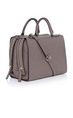 Large leather box bag  Taupe soft grain leather twin zip closure large box bag with central storage divider, stud handle detailing, interior swing pocket and detachable shoulder strap. Measures 32 x 16 x 25CM. GX129  €450.00 - See more at: http://www.karenmillen.com/large-leather-box-bag/bags/karenmillen/fcp-product/01441019#sthash.u36MIEez.dpuf Large leather box bag | Luxury Women's bags | Karen Millen