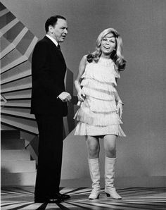 "1967 Frank Sinatra and Nancy Sinatra singing ""Something Stupid"", The only #1 pop song recorded by a father and daughter."