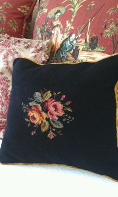 Newest needlepoint pillow, just back from the seamstress