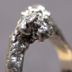 Bouvier des Flandres silver RING two heads