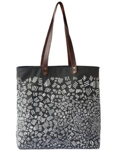 Organic Match Sticks Tote Bag  Gray with White by nellandmary
