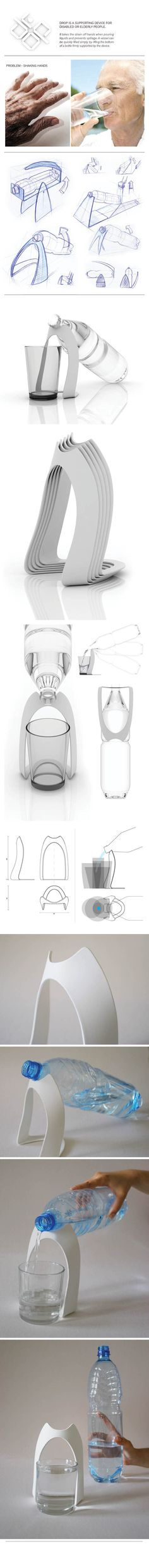 DROP - a supporting device for disabled people by Wiktoria Lenart, via Behance