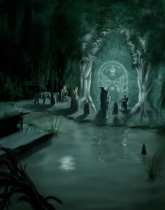 "Middle-earth: ""#Moria's #Door,"" by yinetyang, at deviantART."