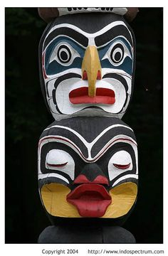Totem Pole, Stanley Park, Vancouver, British Columbia, Canada