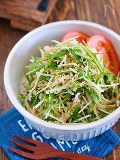 抱えて食べたい♪『水菜ともやしとツナのごまマヨサラダ』 by Yuu | レシピサイト「Nadia | ナディア」プロの料理を無料で検索