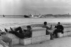 Lisboa. Terreiro do Paco by Henri Cartier-Bresson. Portugal in 1955