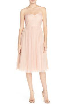 Jenny Yoo 'Maia' Convertible Tulle Tea Length Fit & Flare Dress