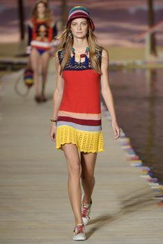 Tommy Hilfiger RTW Spring 2016 #crochet dress