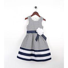 Joe-Ella Girl's Nautical Dress with Ribbon Sash - Margaret   SHOP.CA - Joe-Ella  Flower girl Briana!!