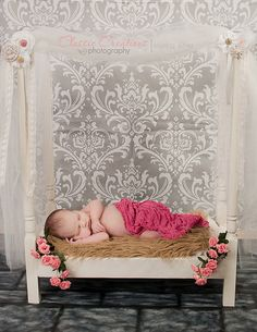 Newborn post/canopy bed photo prop by Itsafind on Etsy, $70.00