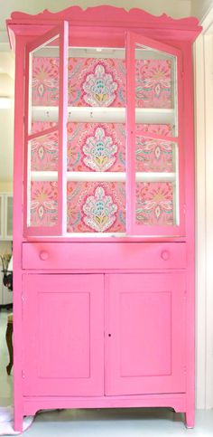 paint and fabric idea for armoire - diff colors