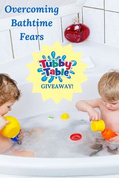 Learn tips and tricks to quell bathtime fears and enter for your chance to win a fantastic bath toy giveaway from our friends at Tubby Table.