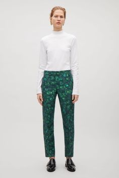 COS image 1 of Patterned trousers in Green