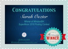 You are the winner of our SuperMoon 2016 posting contest. Please contact admin to arrange pick-up of your Tim Horton gift card. Thanks to all of you who participated in our contest. Stay tuned for other contest in the future. Tim Hortons, Super Moon, Stay Tuned, Congratulations, Writer, Thankful, Future, News, Gift