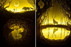 Magical Paper-Cut Light Boxes by