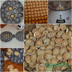 preparare coji nuci Walnut Cookies, Churros, Food And Drink, Ice Cream, Sweets, Cooking, Breakfast, Recipes, Cakes