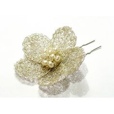 wedding hair pin, hair accessory, pearls, flowers, Blossom Dream Hair Pin