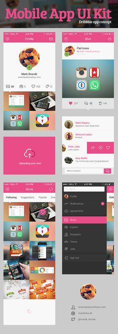 http://graphicburger.com/dribbble-app-concept-psd/