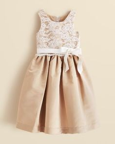 US Angels Girls' Lace Overlay Dress - Sizes 7-14 | Bloomingdale's