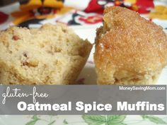 Tasty and SO simple to make! I used agave nectar in place of sugar, so lessened milk & applesauce slightly. Added craisins. It would be simple to substitute in different spices and nuts or fruits! Yum! :Gluten-Free Oatmeal Spice Muffins | Money Saving Mom®