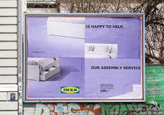 Ikea lance une campagne d'affichage mal assemblée en Allemagne