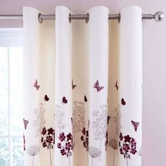 Finished with a hydrangea pattern in a plum colour way, these eyelet curtains come complete with a thermal lining to regulate temperature and are available in a...