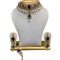 VVS Jewellers Indian Bollywood Red & Green Stone Polki Ku... https://www.amazon.com/dp/B01IZJHSEI/ref=cm_sw_r_pi_dp_U_x_KWoJAbBY8B693