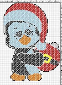 Penguin with red ornament 2/2