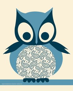 'Owl' by Hero Design Studio (silkscreen artprint)