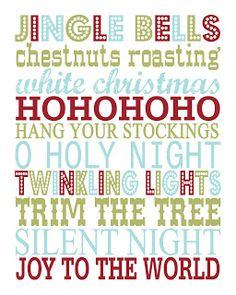 FREE printable Christmas Subway Art // eighteen25