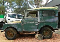 Land Rover Series 1 - Royal Visit 1954 SOLD, This Land Rover Series 1 has just been recovered from a shearing shed near Tumut in country New Off Road, Abandoned Cars, Land Rovers, Land Rover Defender, Old Cars, Landing, 4x4, Classic Cars, Trucks