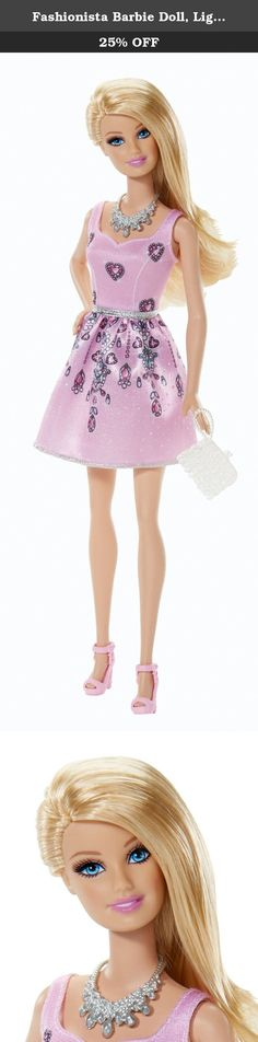 Fashionista Barbie Doll, Light Pink Dress. Barbie Fashionistas Doll Barbie has big plans for a fabulous summer: glam parties, garden parties and fun in the sun - sometimes all in one! Dressed in pretty party dresses and flowery and tropical prints, the Fashionistas dolls will be the blossoms of every ball! Girls will have closets of fashion fun creating perfect party outfits and vacation looks with this assortment of Fashionistas dolls, trendy fashions and glam accessories. Each doll wears…