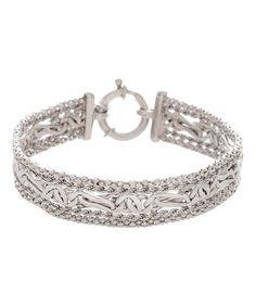 Love this Sterling Silver Weave Bracelet on #zulily! #zulilyfinds