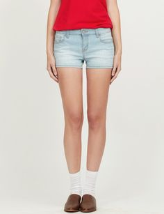 Womens Fitted High Rise Push Up Denim Jean Shorts | Gets, Extras ...