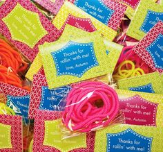 Roller Skating Party shoe lace party favor