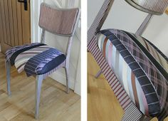 The Helen Rollason Striped Tie Chair from theGreenSuitcaseCo £145 with £50 from the sale price going to The HRCC