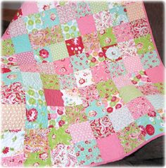 Scrumptious Baby Girl Quilt Patchwork Charmer on Etsy, $139.00