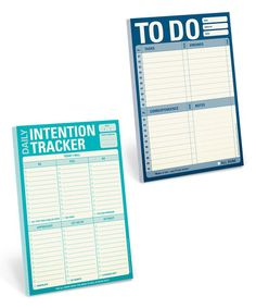 This 'Daily Intention' & 'To Do' Notepad Set is perfect! #zulilyfinds