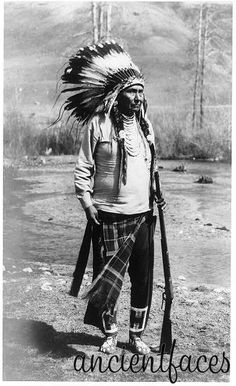 ancientfaces: Chief Joseph of the Nez Perce This is a photo of Chief Joseph of the Nez Perce in He lead the tribe when the U. government was trying to force them onto reservation land in Idaho. [ Source Chief Joseph of the Nez Perce ]