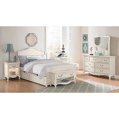 NE Kids Kensington Charlotte Antique Upholstered Full-size Trundle Bed