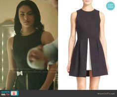 Alice + Olivia Bria Dress worn by Camila Mendes on Riverdale