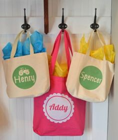 Love this idea for kids' bags! Don't have a Silhouette? No problem.  Use Avery Fabric Transfers and personalize your own for free at avery.com/print. So easy to make.